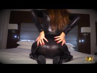Lady nina -shiny latex  catsuit joi(femdom,pov,mistress,goddess,jerk off instruction,dirty talk)