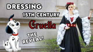 Dressing CRUELLA DE VIL as a Historically Accurate Medieval Lady \\ 15th century Get Ready With Me