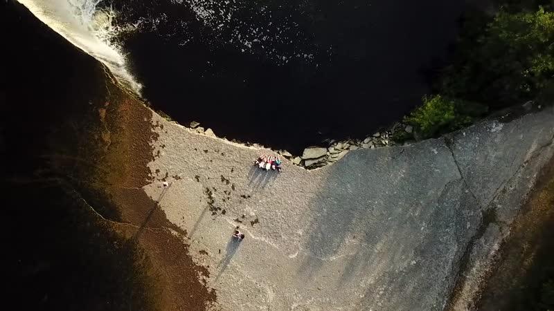 Водопад Ягала / Эстония / Аэросъемка
