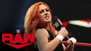 SBMKV Video Becky Lynch vows pain for Sasha Banks at WWE Hell in Cell Raw Sept 30 2019