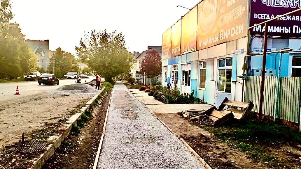 8 сентября 2020 года, подрядная организация АО «ДП «Ижевское» приступила к ремонту еще одного тротуара.