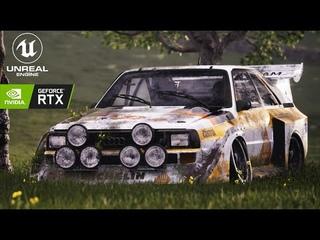 Group B Legends // Abandoned Audi Quattro Sport S1 // Unreal Engine 4 (RTX)