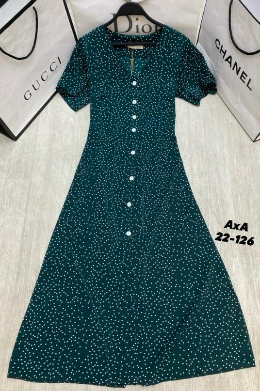 За что мы любим такие платья Да за то, что они подходят любому типу фигуры и под любое событие  _______________________  Размеры 42 44 46 48  Цена   Материал Прадо  Длина 120-122см