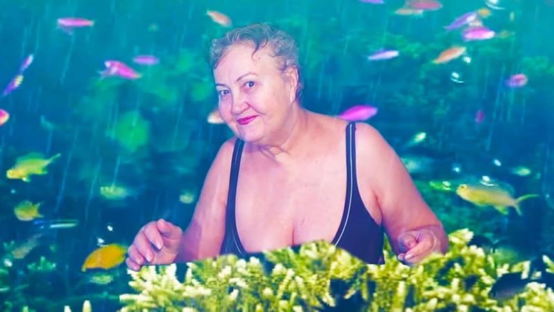 Татьяна нырнула под воду Татьяна Субботина Королева зеленого экрана Green screen Chroma Key