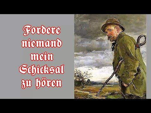 Fordere niemand mein Schicksal zu hören Deutsches Handwerkerlied German craftsman song English T