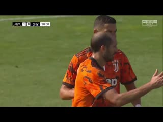 Гол Криштиану Роналду в тренировочном матче в ворота Новары