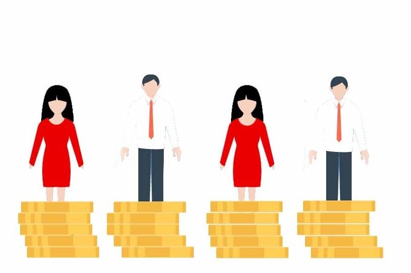 Иллюстрация средней заработной платы всех работников
