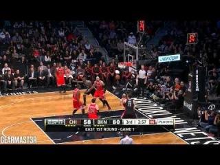 Joe Johnson and Andray Blatche vs Bulls Full Highlights (2013 EC1R GM1) ()