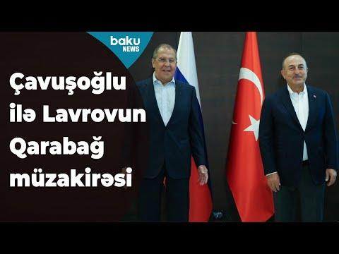 Türkiyə və Rusiya Xarici İşlər nazirlərinin Antalyada görüşü keçirilib Baku TV