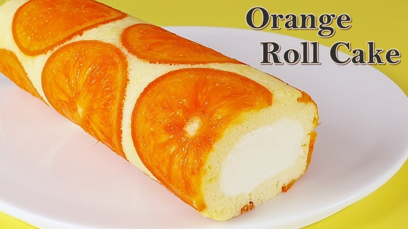 롤케이크 상큼하고 완벽한 오렌지 롤케이크 만들기 수플레 도지마롤케이 53356