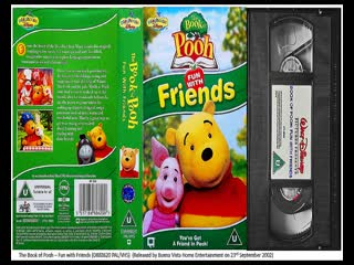 The Book of Pooh - Fun with Friends, Fun with Words and A Valentine for Eeyore (2002-03 UK VHS)