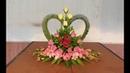 Сердце, розы, орхидеи.