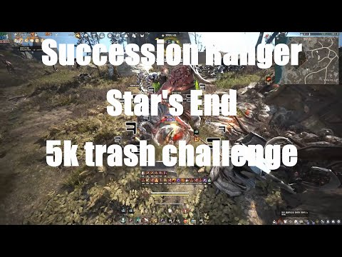 BDO )검은사막65레인저전승 별무덤 5천개도전?Black Desert 65RangerSuccession Star's End 5k trash challenge黑色沙漠遊俠