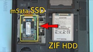 Замена ZIF HDD на SSD mSATA на ноутбуке HP Compaq 2510p