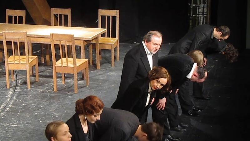 Театр РАМТ на спектакле Будденброки Томас Манн Поклон артистов