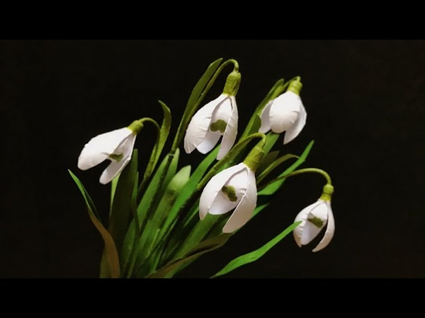 ABC TV | How To Make Snowdrop Paper Flower - Craft Tutorial