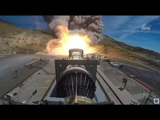 Full-size Space Launch System rocket booster test-fired in Utah