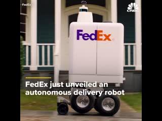 Робот курьер от fedex почта будущего.
