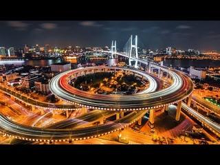 Shanghai Nanpu Bridge () Aerial Drone Photography 4K