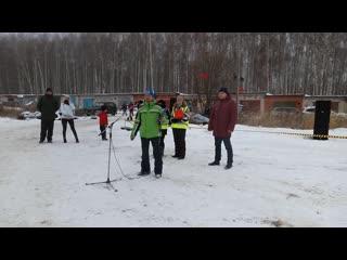 Торжественное открытие 4-й Открытой новогодней тренировки по мотокроссу в городе Вязники