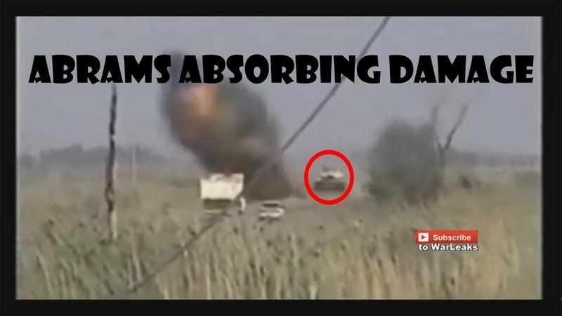 Abrams M1 tank taking and absorbing MAJOR damage compilation