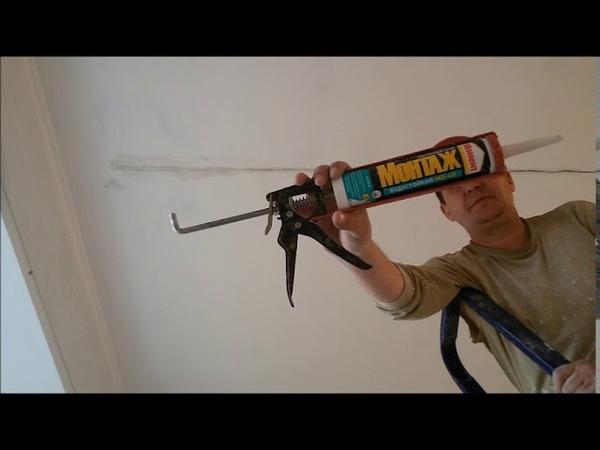 Как убрать микротрещины на потолках и стене