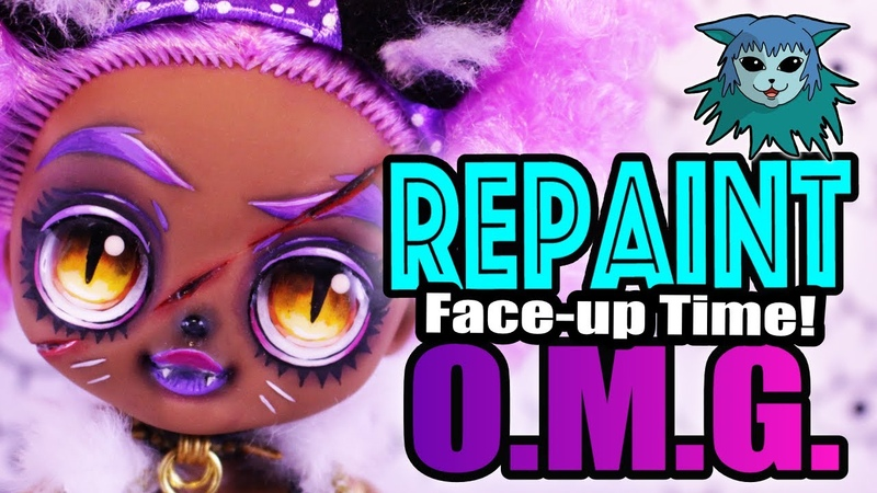 Doll Repaint Face up Time O M G DJ 24k Winter Disco L O L Surprise