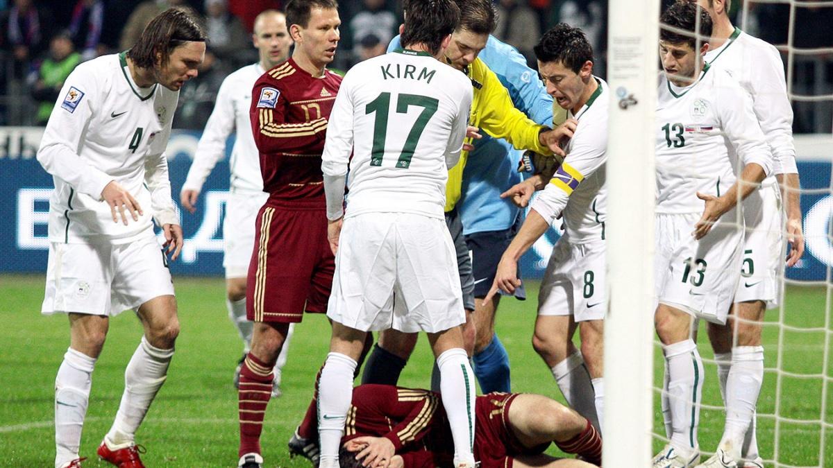 Словения - Россия, 1:0. 2009 год