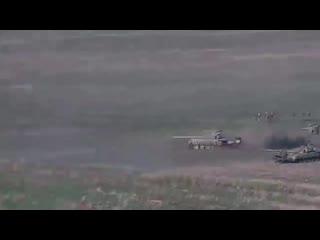 Баку опубликовал кадры уничтожения армянских танков