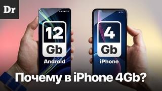Почему iPhone хватает 4 ГБ ОЗУ?