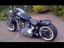Harley Davidson 1986 Fxst softail bobber chopper hotrod custom 240 rear wheel tyre conversion