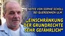 Querdenken in Ulm mit Neffe von Sophie Scholl: Die Zahlen sprechen ja für sich
