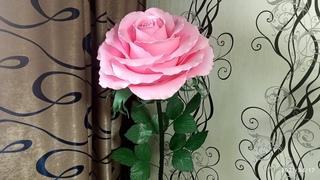 Торшер - светильник роза из изолона.  Часть 5 Сборка всей композиции