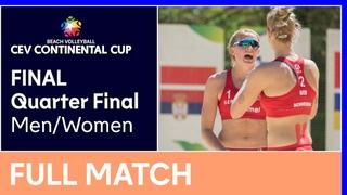 Quarter Final Men/Women   Court 2 - CEV Beach Volleyball Continental Cup Final