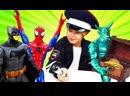 ПАПА тайм Новые игры Человек Паук и Бэтмен Кто поможет супергероям Смешные видео для мальчиков