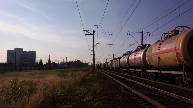 Комфортабельный РЭКС вышел на БМО прибытие ЭП2Д 0084 в Бекасово Центральное