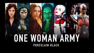 ONE WOMAN ARMY | Marvel & DC (Porcelain Black)