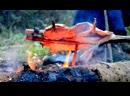 Дикая кухня - Жаренная щука на огне в расщепе
