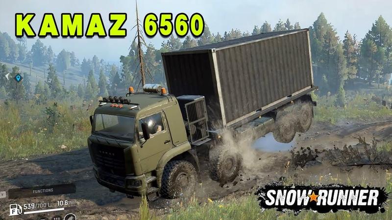 SnowRunner Mods KAMAZ 6560 8x8 Driving Offroad Crash Jack