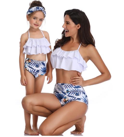Купальники для мамы и дочки