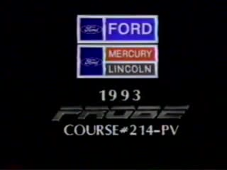 1993 Ford Probe Introduction- Dealer Training Video