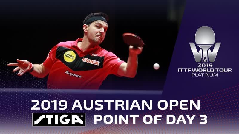 Timo Boll Stiga Point of Day 3 Austrian Open 2019