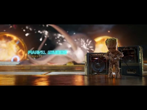 Стражи галактики 2 Начало ТАНЕЦ МАЛЫША Грута