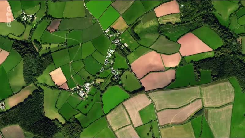 Das Vereinigte Königreich von oben Fruchtbarer Boden