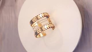Purui полый широкий браслет манжета, браслеты для женщин и мужчин, цыганский золотой цвет, открытый