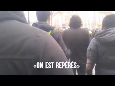 Acte XIl Antifa Des gilets jaunes antifascistes chassent les Zouaves Paris