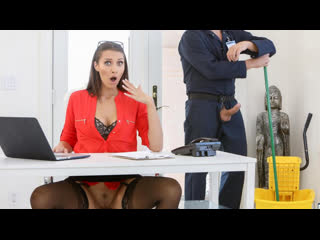 Bella Rolland - Gets The Janitor To Fuck Her Ass / Трахнулась на работе [Anal, Big Ass, Blowjob, Brunette, Girl, Doggy Style]