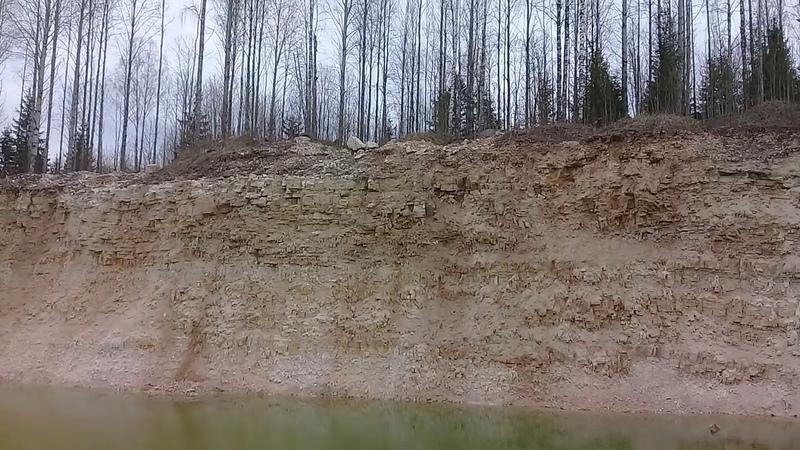 Известняковый карьер рядом с бывшим поселком Северный в Девятинском с п Вытегорского района май 202