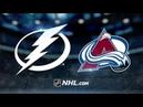 Tampa Bay Lightning vs Colorado Avalanche Feb 17 2019 NHL 19 20 Game Highlights Обзор матча