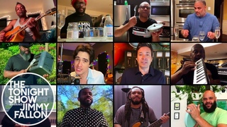 """Jimmy Fallon, Brendon Urie & The Roots Remix """"Under Pressure"""" (At-Home Instruments)"""